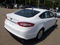 2013 Oxford White Ford Fusion S  photo #8