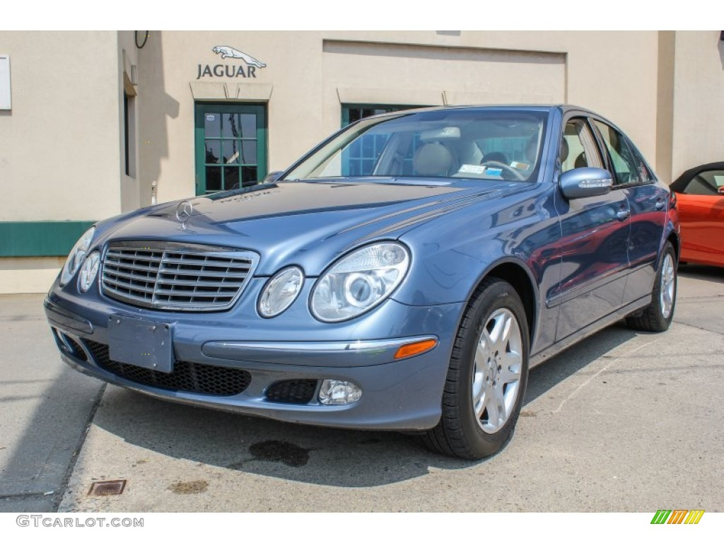 2003 platinum blue metallic mercedes benz e 320 sedan