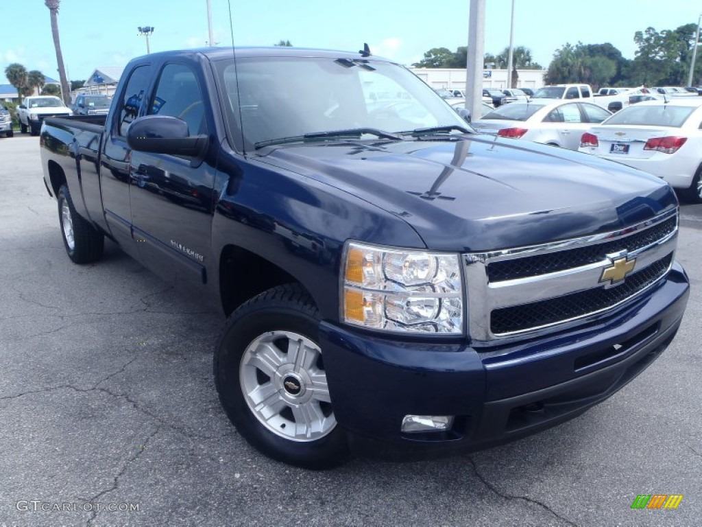 2011 Silverado 1500 LTZ Extended Cab 4x4 - Imperial Blue Metallic / Ebony photo #1