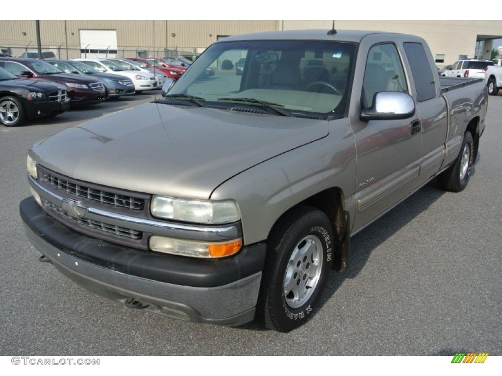 2002 Silverado 1500 LT Extended Cab - Light Pewter Metallic / Medium Gray photo #1