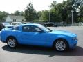 2011 Grabber Blue Ford Mustang V6 Coupe  photo #5