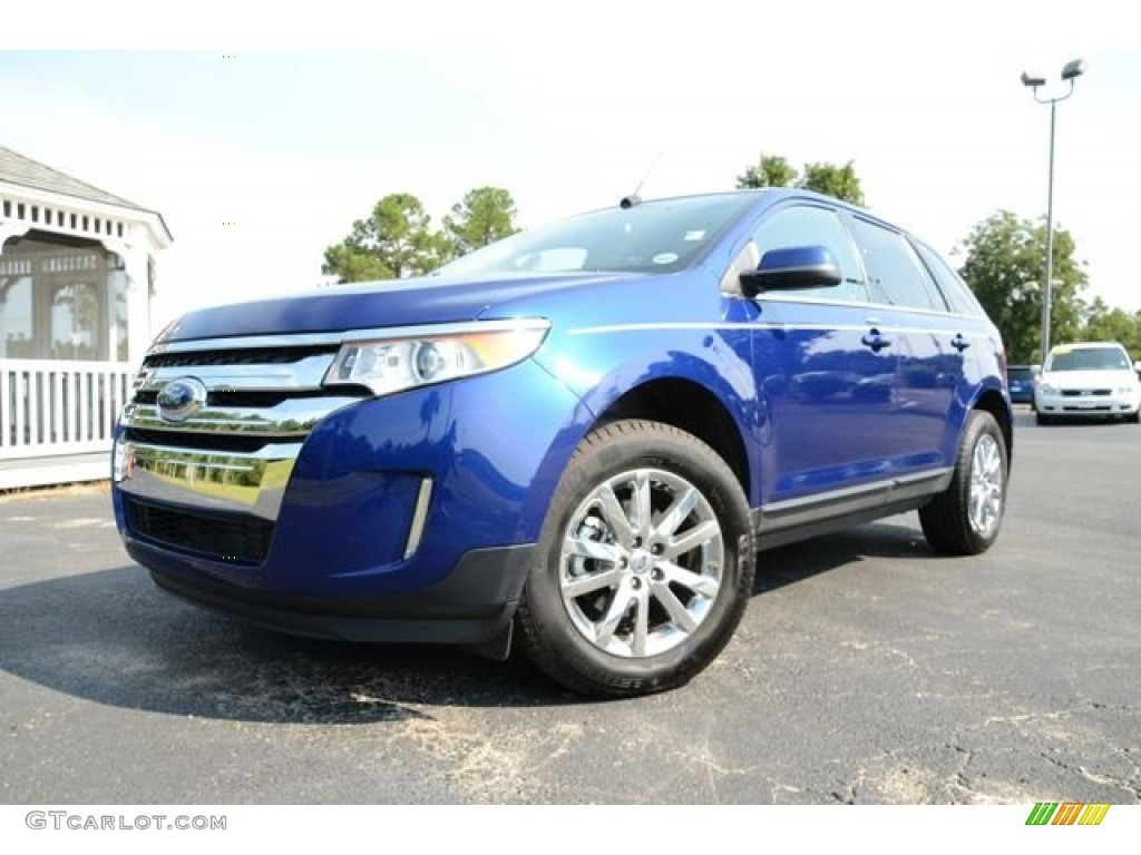 deep impact blue metallic 2013 ford edge limited exterior photo 85073396. Black Bedroom Furniture Sets. Home Design Ideas