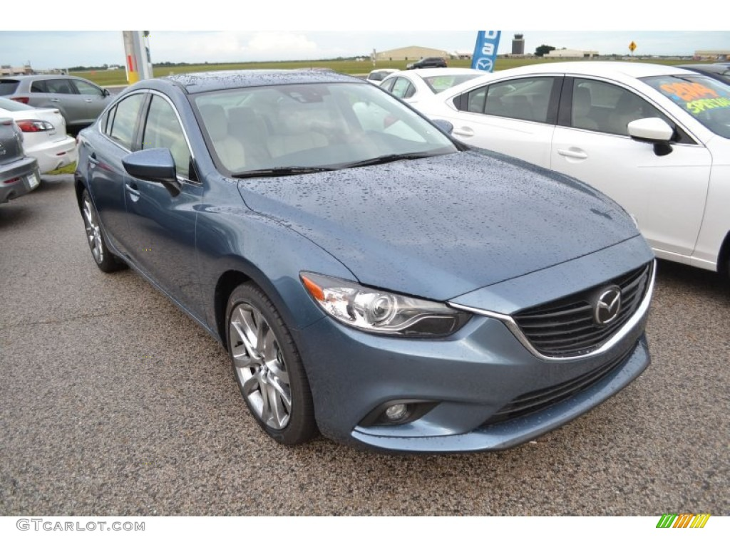 blue reflex mica 2014 mazda mazda6 grand touring exterior photo 85074023. Black Bedroom Furniture Sets. Home Design Ideas