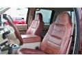 2008 Ford F250 Super Duty Camel/Chaparral Leather Interior Front Seat Photo