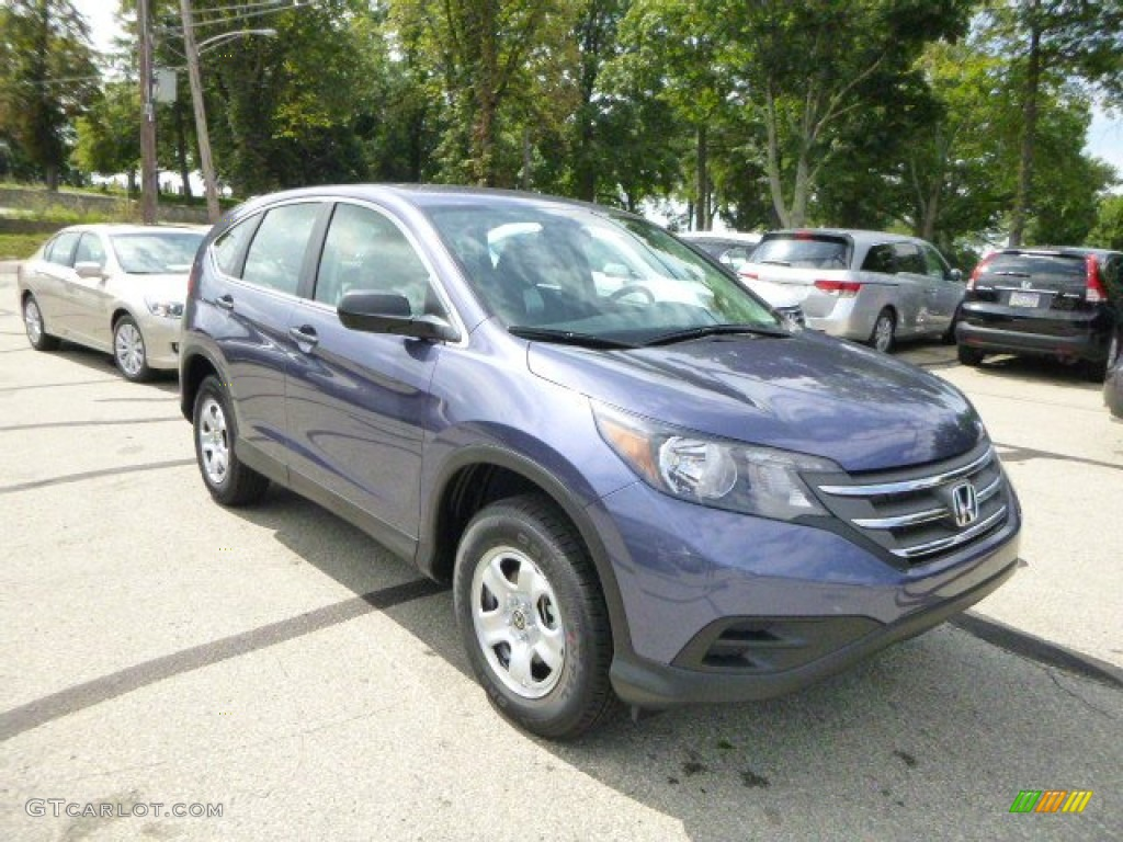 2014 CR-V LX AWD - Twilight Blue Metallic / Gray photo #1