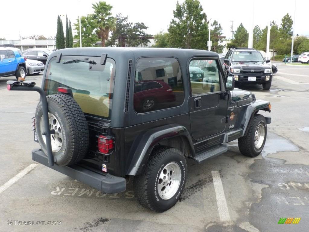 black 1997 jeep wrangler sahara 4x4 exterior photo. Black Bedroom Furniture Sets. Home Design Ideas