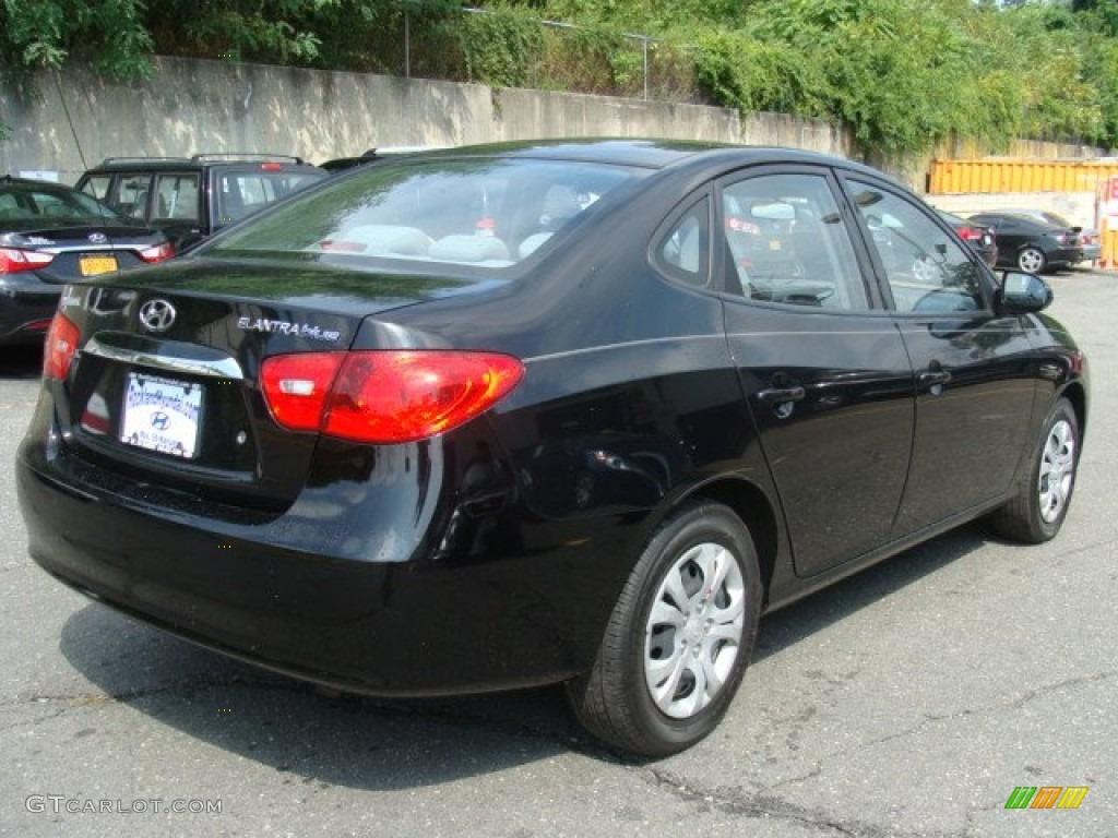 2010 Ebony Black Hyundai Elantra Blue #85120399 Photo #4 ...