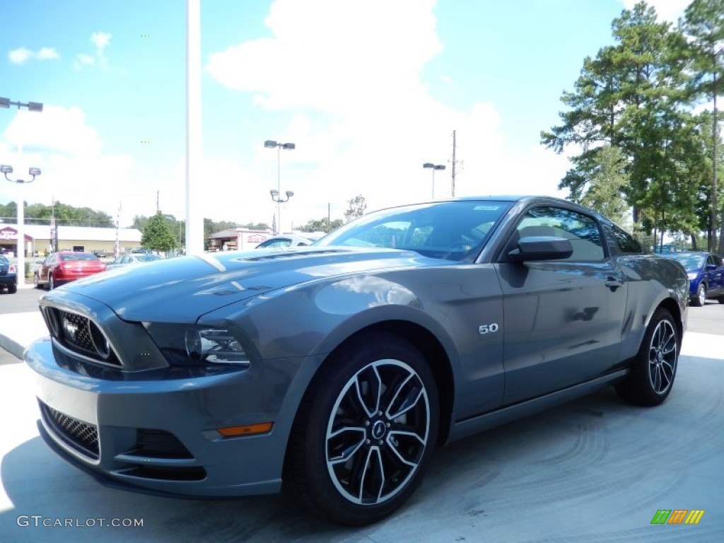2014 sterling gray ford mustang gt premium coupe 85119797. Black Bedroom Furniture Sets. Home Design Ideas