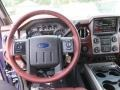 2014 Ford F250 Super Duty King Ranch Chaparral Leather/Black Trim Interior Dashboard Photo