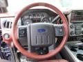 2014 Ford F250 Super Duty King Ranch Chaparral Leather/Black Trim Interior Steering Wheel Photo