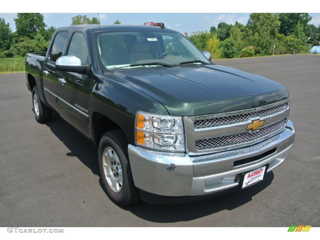2013 Silverado 1500 LT Crew Cab - Fairway Metallic / Light Cashmere/Dark Cashmere photo #1