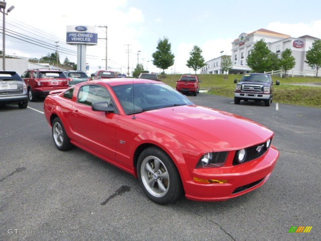 2005 Mustang Gt Premium Coupe Torch Red Dark Charcoal Photo 1