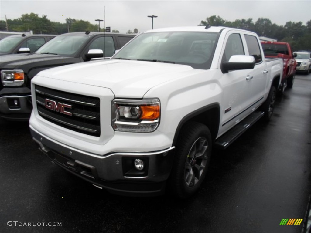 2014 summit white gmc sierra 1500 slt crew cab 4x4 85184725 car color galleries. Black Bedroom Furniture Sets. Home Design Ideas
