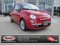 Rosso Brillante (Red) 2012 Fiat 500 Lounge