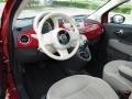 Tessuto Beige-Nero/Avorio (Beige-Black/Ivory) 2012 Fiat 500 Interiors