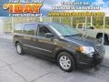 Brilliant Black Crystal Pearl 2010 Chrysler Town & Country Touring
