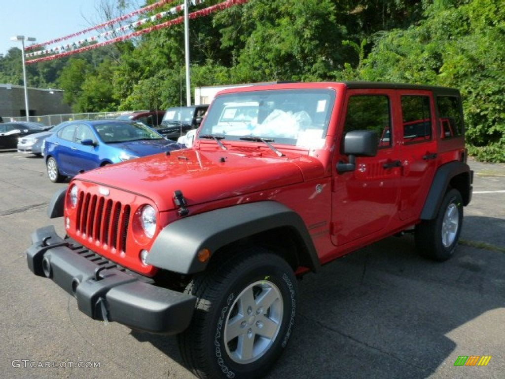 2014 flame red jeep wrangler unlimited sport 4x4 #85184674