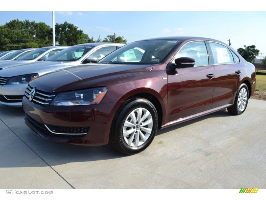 2014 Passat 2.5L Wolfsburg Edition - Opera Red Metallic / Cornsilk Beige photo #1