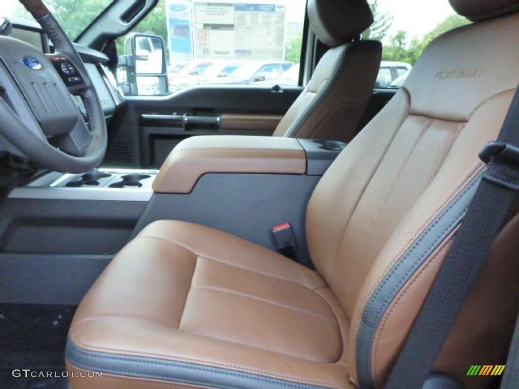 Platinum Pecan Leather Interior 2014 Ford F350 Super Duty Platinum Crew Cab 4x4 Photo 85240187