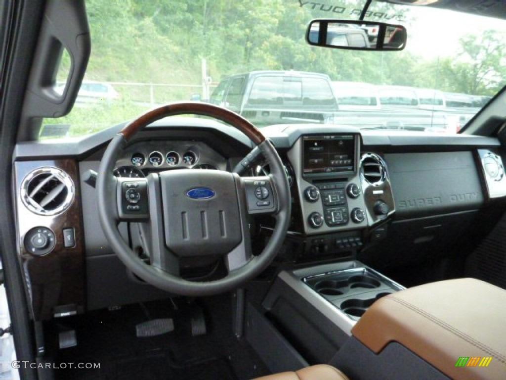 Platinum pecan leather interior 2014 ford f350 super duty platinum crew cab 4x4 photo 85240225