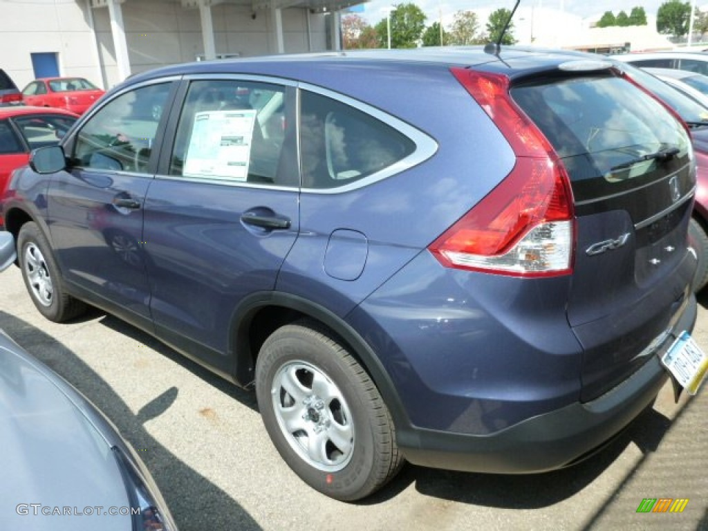 2013 CR-V LX AWD - Twilight Blue Metallic / Gray photo #5