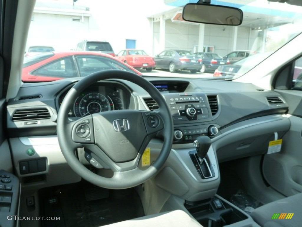 2013 CR-V LX AWD - Twilight Blue Metallic / Gray photo #11