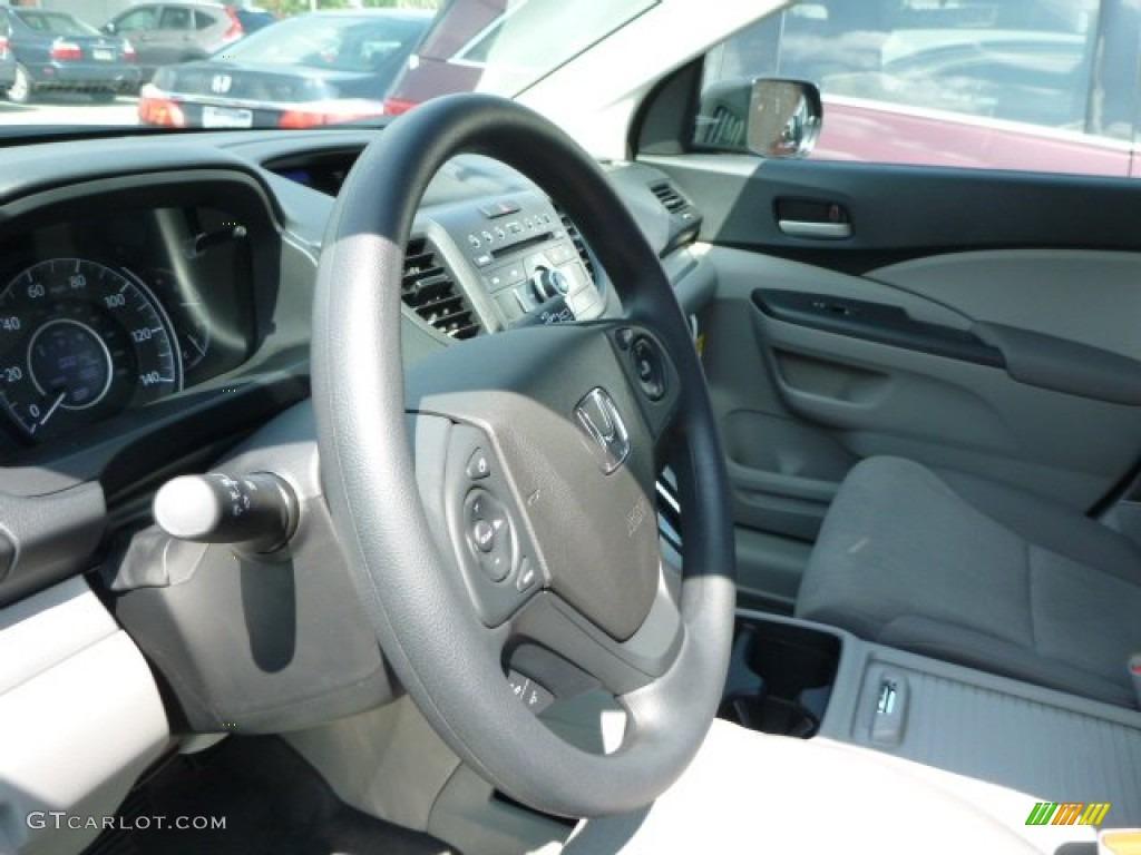 2013 CR-V LX AWD - Twilight Blue Metallic / Gray photo #14