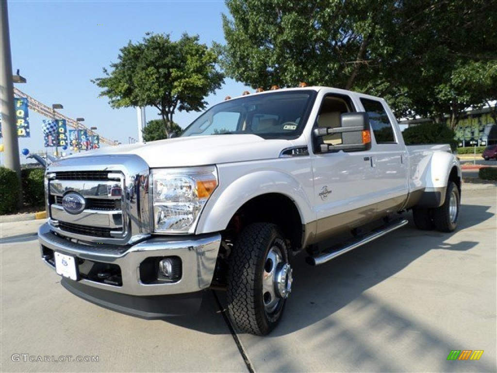 2014 f350 super duty lariat crew cab 4x4 dually white platinum tri coat