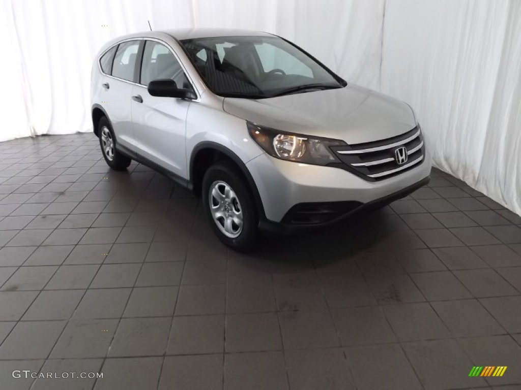 2014 CR-V LX - Alabaster Silver Metallic / Gray photo #1