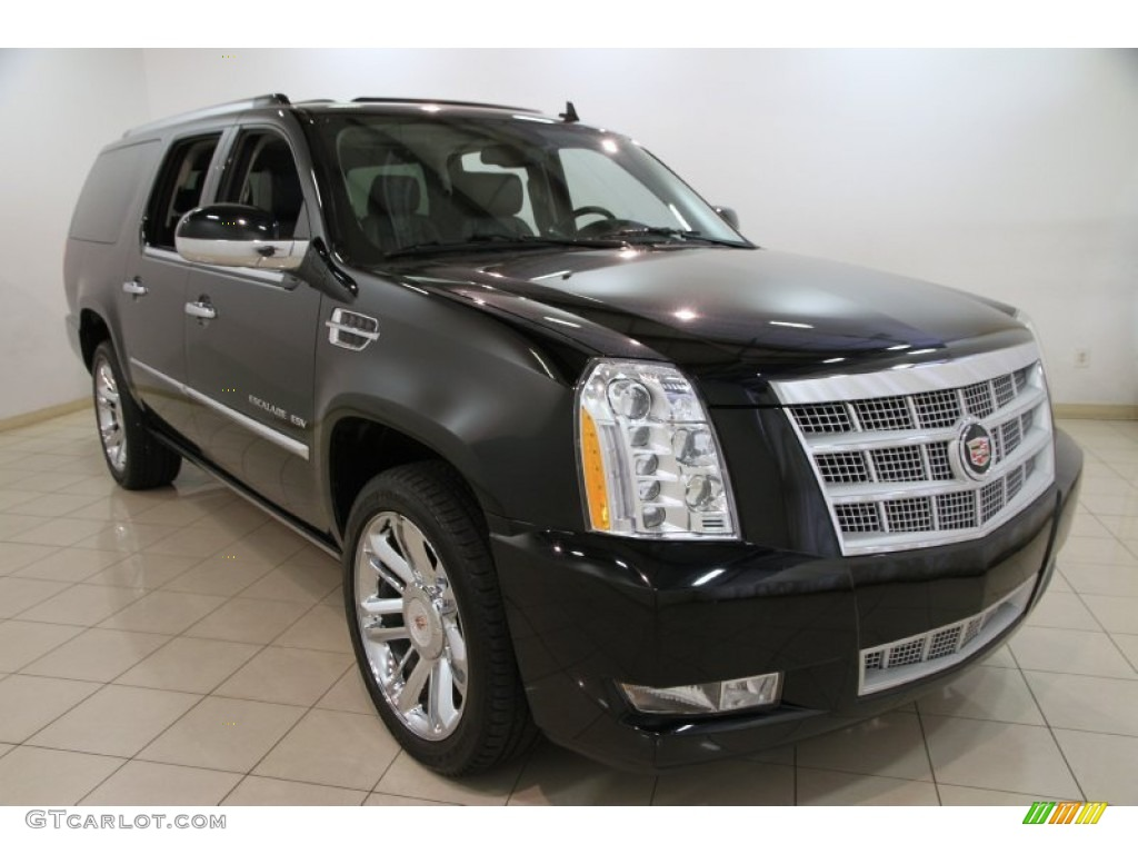 2012 black raven cadillac escalade esv platinum awd. Black Bedroom Furniture Sets. Home Design Ideas
