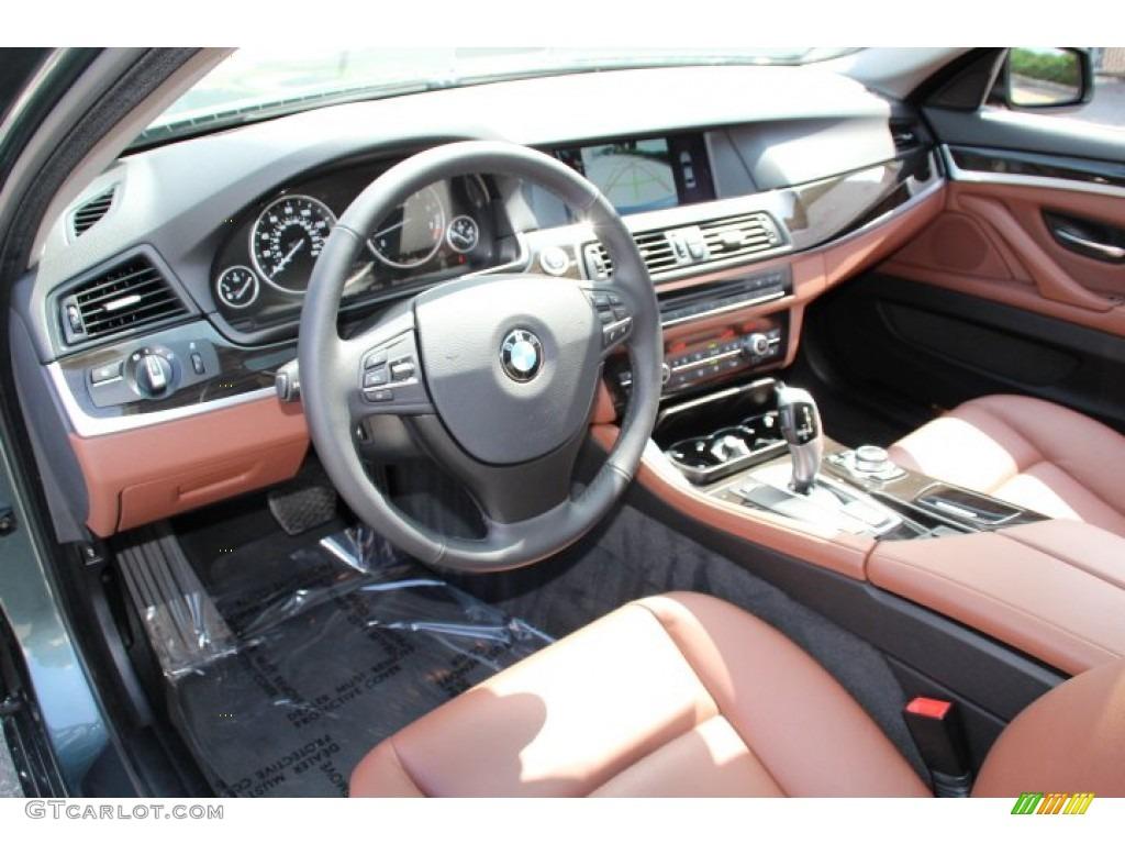Cinnamon Brown Interior 2011 Bmw 5 Series 528i Sedan Photo 85295336