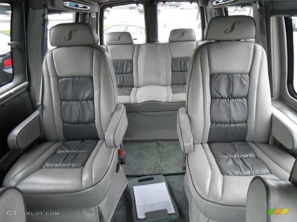 2002 chevrolet express 1500 passenger conversion van rear seat photos
