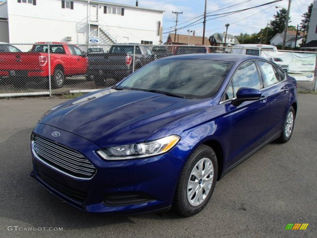 2014 Deep Impact Blue Ford Fusion Se 85269894 Gtcarlot Com Car Color Galleries