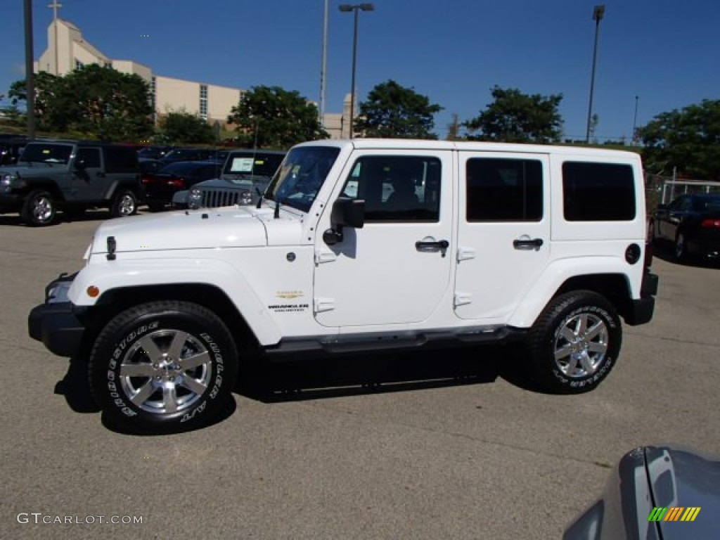 2014 jeep wrangler unlimited sahara 4x4 bright white color black. Cars Review. Best American Auto & Cars Review