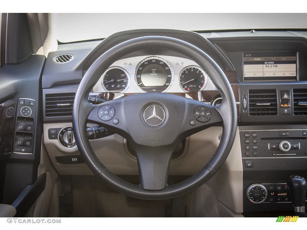 2012 mercedes benz glk 350 almond black steering wheel for Mercedes benz steering wheel control buttons