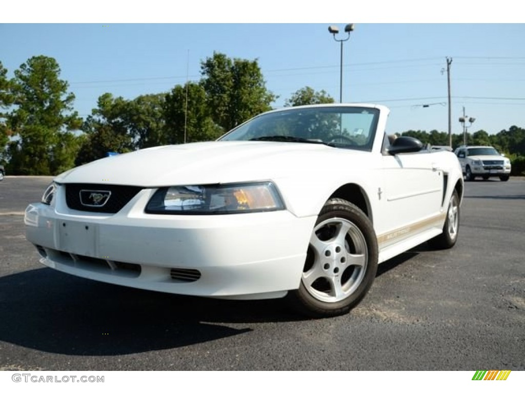 2003 oxford white ford mustang v6 convertible 85310181. Black Bedroom Furniture Sets. Home Design Ideas