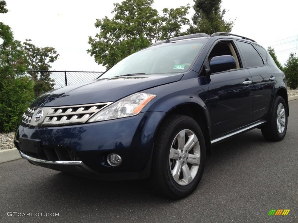2007 Murano SL AWD - Midnight Blue Pearl / Cafe Latte photo #1