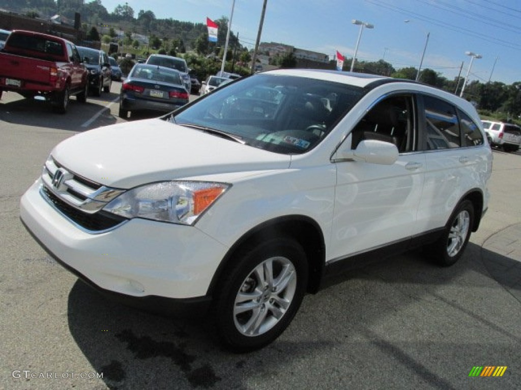 2011 CR-V EX-L 4WD - Taffeta White / Gray photo #4