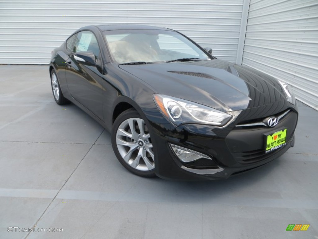 2013 Genesis Coupe 3.8 Grand Touring - Black Noir Pearl / Tan Leather photo #1
