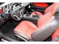 Inferno Orange 2014 Chevrolet Camaro Interiors