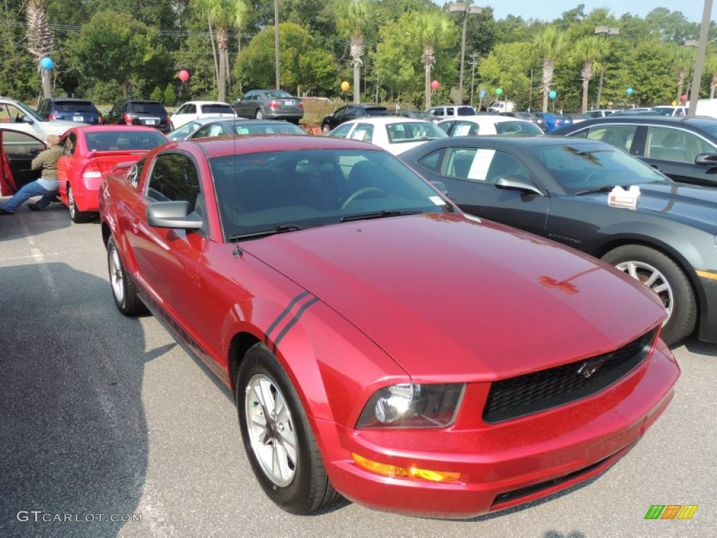 2006 Mustang V6 Premium Coupe - Redfire Metallic / Dark Charcoal photo #1