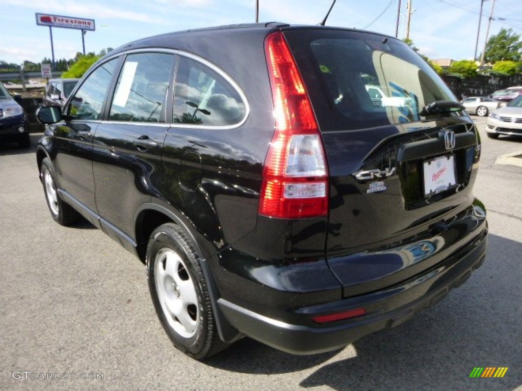 2010 CR-V LX AWD - Crystal Black Pearl / Black photo #3