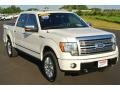 White Platinum Metallic Tri Coat 2010 Ford F150 Platinum SuperCrew 4x4