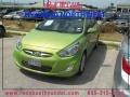 Electrolyte Green 2012 Hyundai Accent SE 5 Door