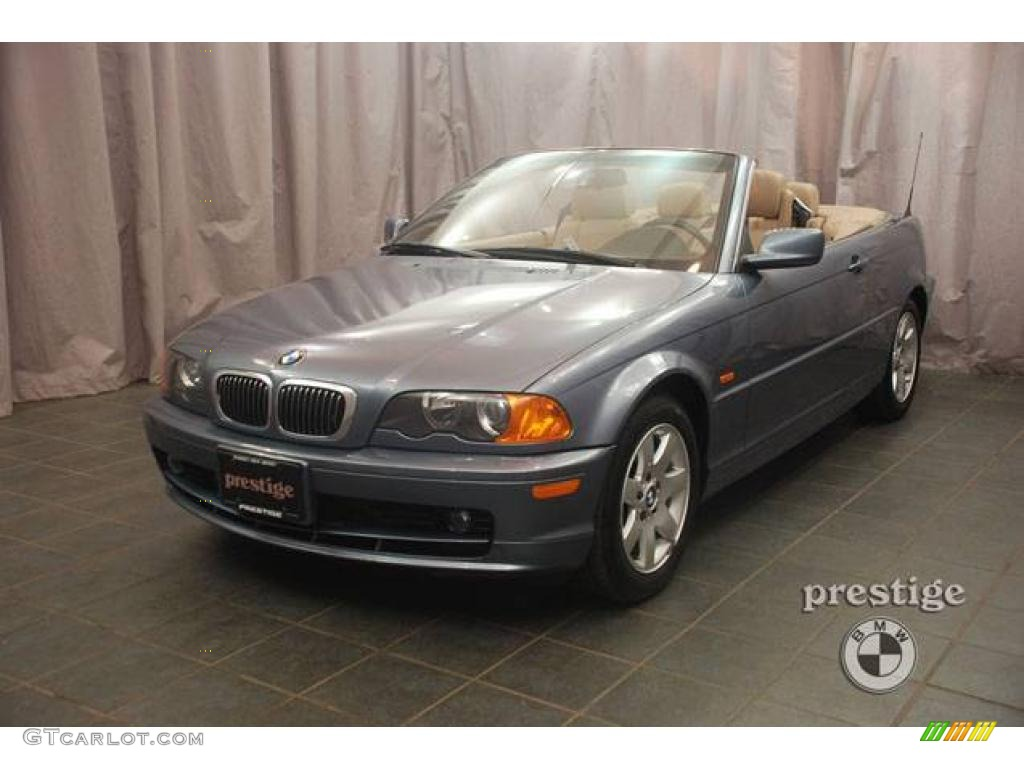 2000 steel blue metallic bmw 3 series 323i convertible. Black Bedroom Furniture Sets. Home Design Ideas