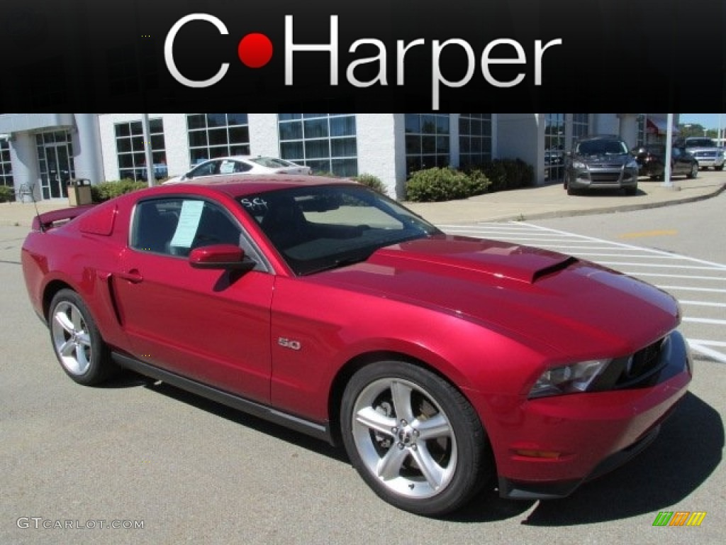 2011 Mustang GT Premium Coupe - Red Candy Metallic / Charcoal Black/Cashmere photo #1