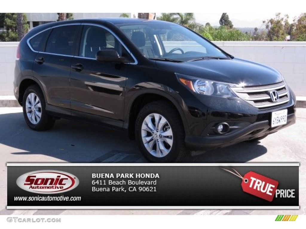 2012 CR-V EX - Crystal Black Pearl / Gray photo #1