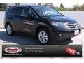 2012 Crystal Black Pearl Honda CR-V EX  photo #1