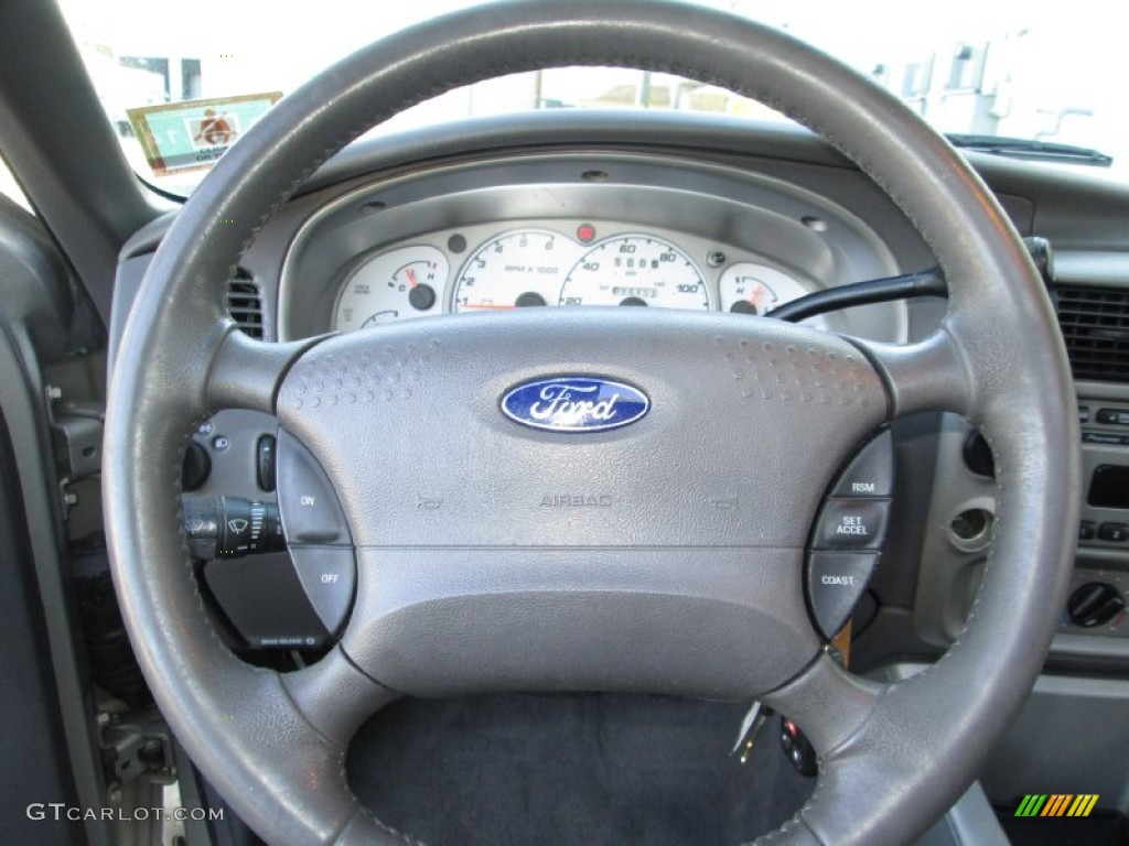 2002 Ford Explorer Sport 4x4 Graphite Steering Wheel Photo 85529441