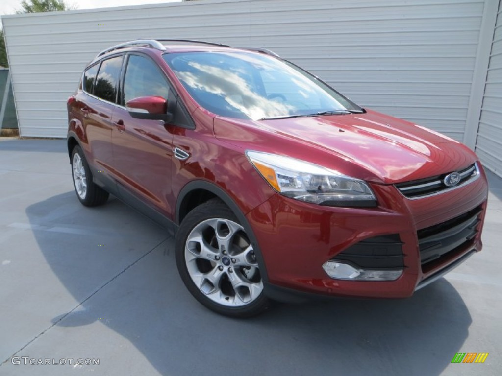 2014 Escape Titanium 1.6L EcoBoost - Sunset / Charcoal Black photo #1